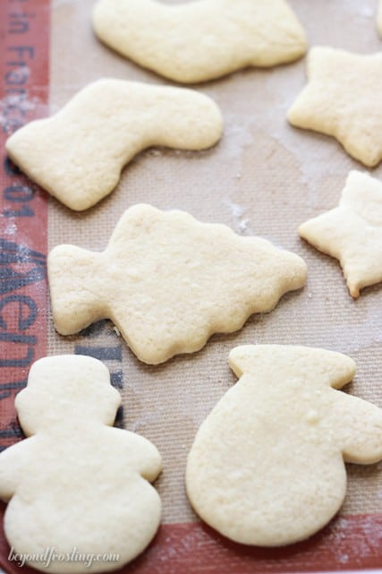 The perfect sugar cookies! This tutorial answers all your questions about making the perfect sugar cookies from how to measure the flour, to how thick to make the dough