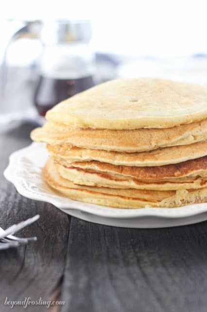 Dairy-free Eggnog Pancakes. You would never guess this recipe is dairy-free!