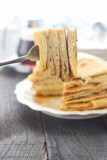 You may not want to share these Dairy-Free Eggnog Pancakes!