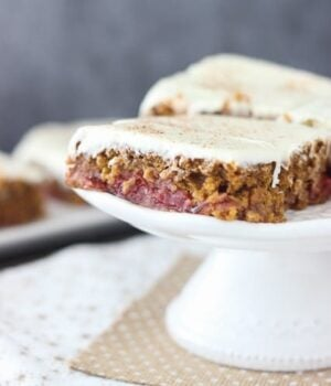 Gingerbread Cherry Bars