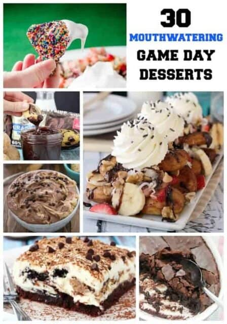30 Mouthwatering Game Day and Superbowl Desserts. These are the BEST most DROOLWORTHY photos from your favorite food bloggers.