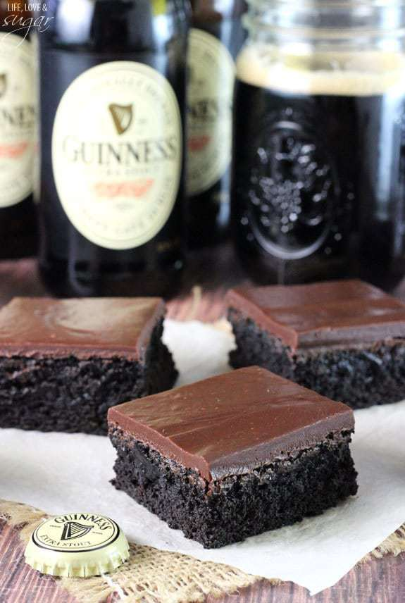 Gooey Guiness Brownies