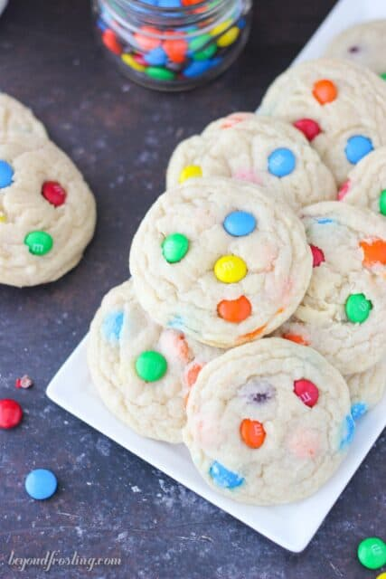 Soft and Chewy Mnm cookies. You won't want to share these!