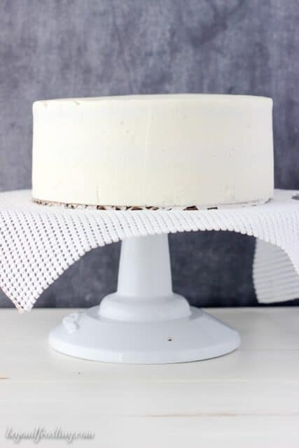 Smooth buttercream cake