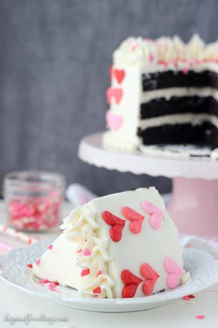 Fun and easy Valentine's Day Ombre Heart cake