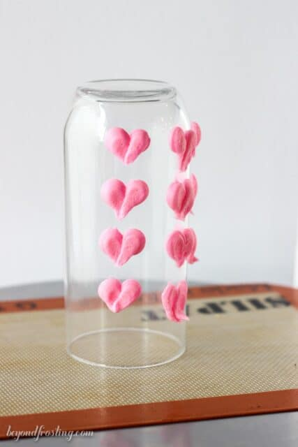 Basic Buttercream Hearts using a round open tip.