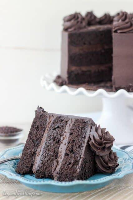 Slice of Chocolate Stout Cake