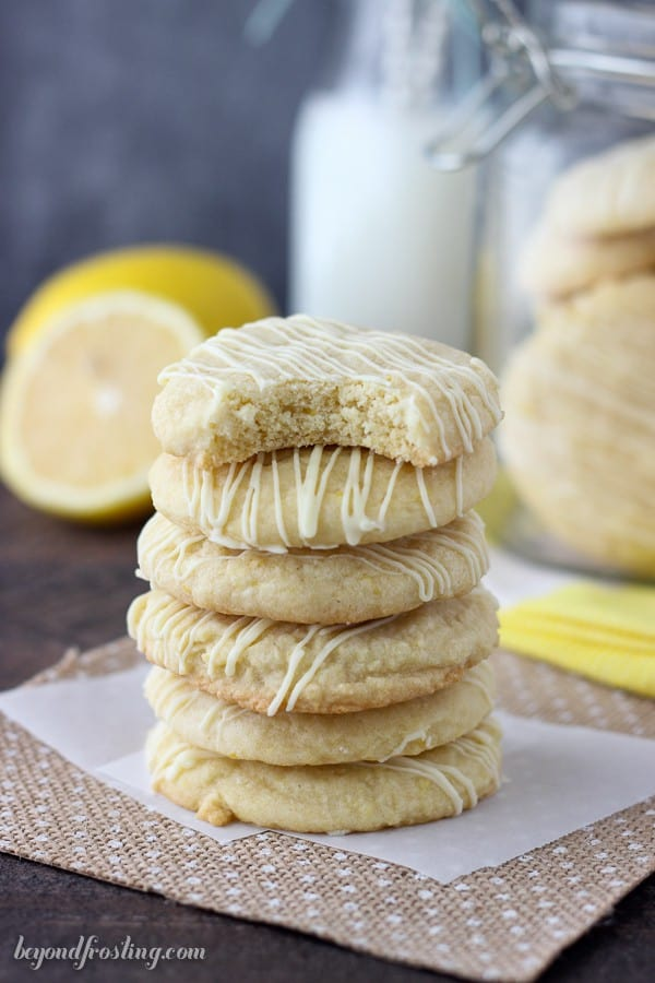 These Lemon Cake Mix Cookies are just what you need to brighten up the day. These lemon infused cookies are make with a lemon cake mix and drizzled with white chocolate.