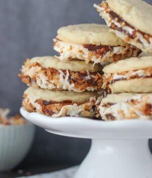 Samoa Cookie Sandwich