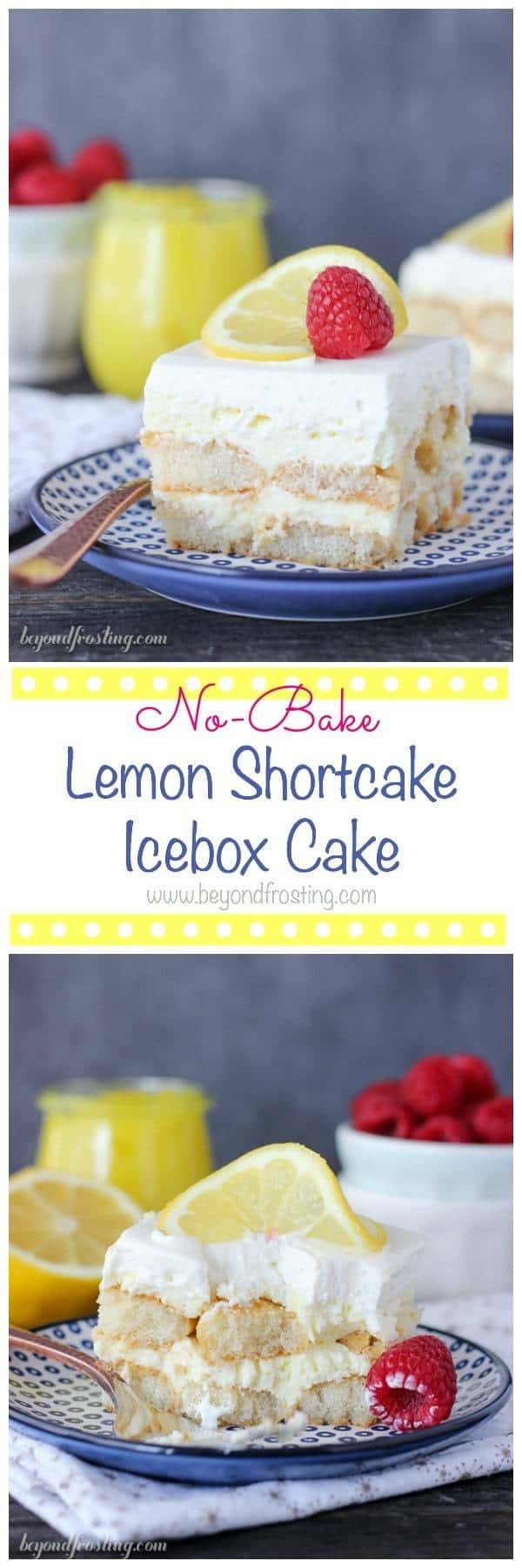 This No-Bake Lemon Shortcake Icebox Cake is layers of soft ladyfingers, lemon cheesecake mousse and whipped cream. This is one recipe you'll make time and time again.