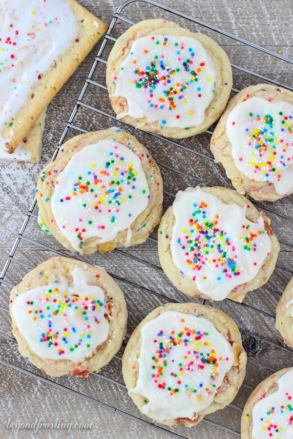 Just try resisting one of these Frosted Strawberry Pop Tart Cookies