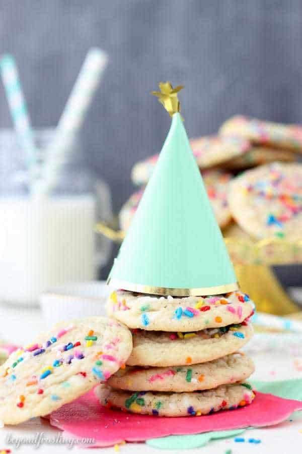 These Sprinkle Sugar Cookies are absolutely perfect. These are soft and chewy sugar cookies and they are filled with sprinkles.