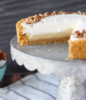 No-Bake Bourbon Butterscotch Pie