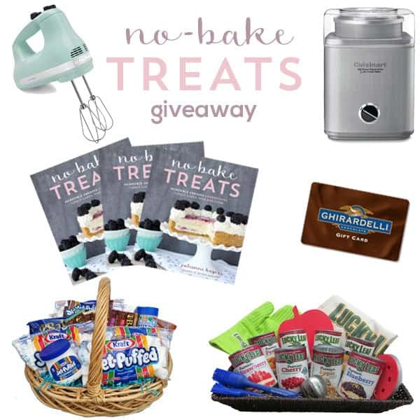 No-Bake Treats Cookbook giveaway