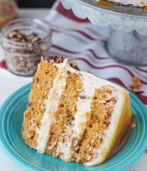 Salted Caramel Butterscotch Cake with Brown Butter Frosting