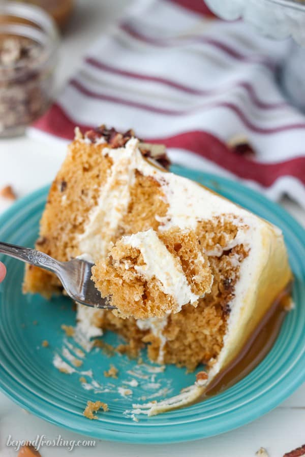 Salted Caramel Butterscotch Cake With Brown Butter Frosting Beyond Frosting