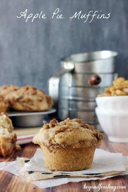 Bakery Style Brown Butter Apple Pie Muffins