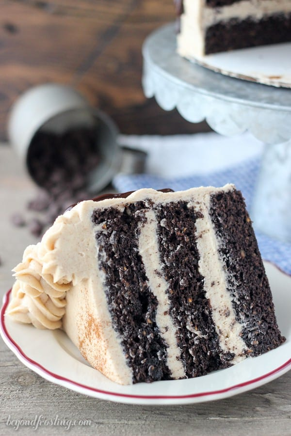 This Chocolate Sweet Potato Cake is nice and spongy, loaded with shaved sweet potato and covered with a cinnamon brown sugar frosting.