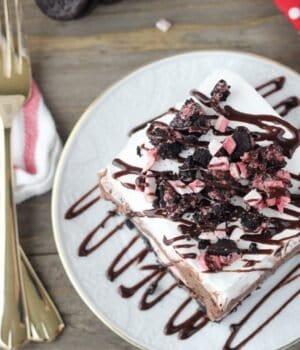 No-Bake Peppermint Oreo Lush