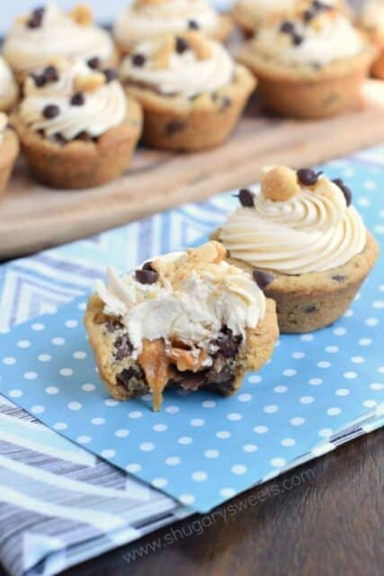 snickers cookie cups