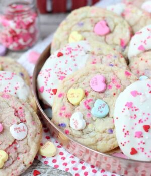 Conversation Heart Sugar Cookies