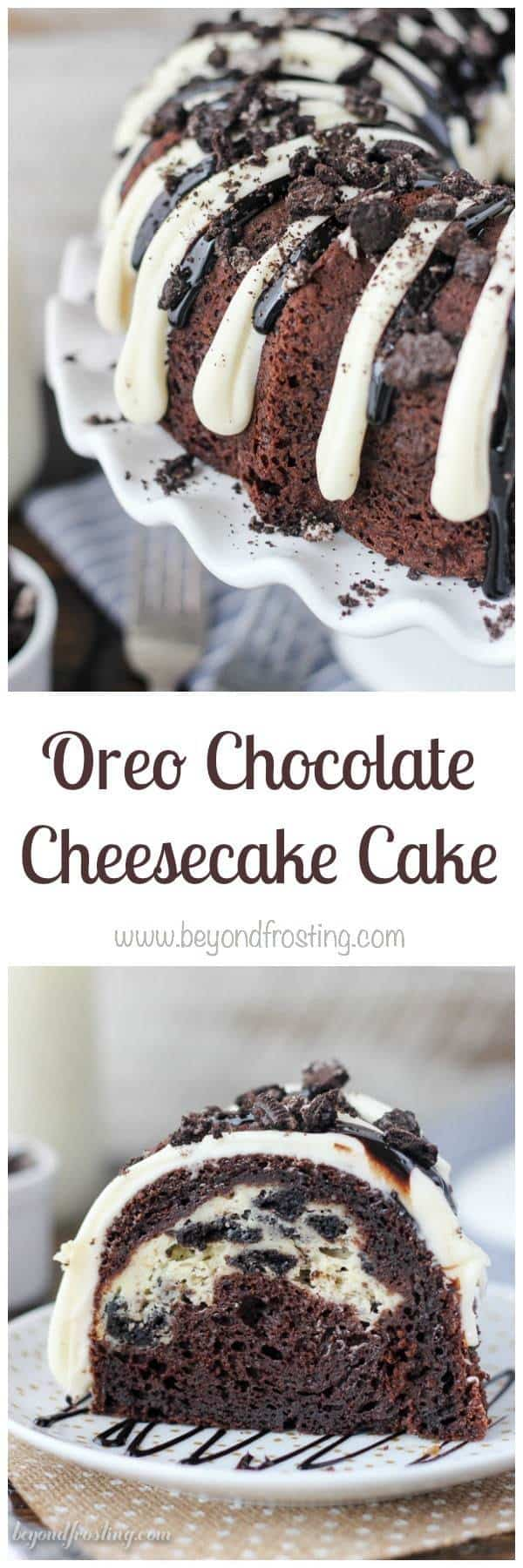 Oreo Chocolate Cheesecake Cake - Beyond Frosting