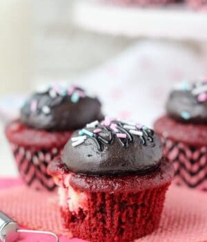 Red Velvet Chocolate Cream Cheese Cupcakes
