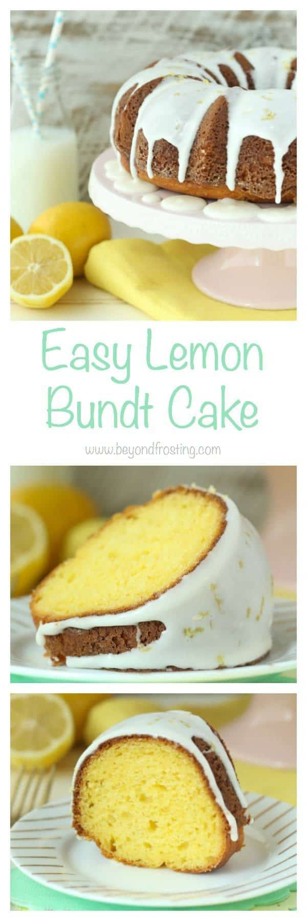 This is the easiest Lemon Bundt Cake you'll ever make and it's absolutely amazing. Perfect for dessert or even breakfast. It's covered with a lemon zested glaze.