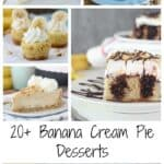 A Collage of Six Delicious Banana Desserts