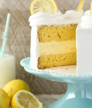 Lemon Ice Cream Cake