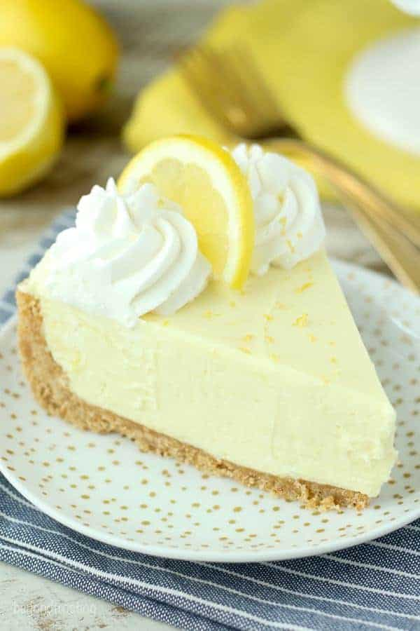 Quick and Easy No-Bake Lemon Cream Pie. There's only 5 ingredients needed for the filling. It's light and refreshing, the perfect fluffy lemon pie!