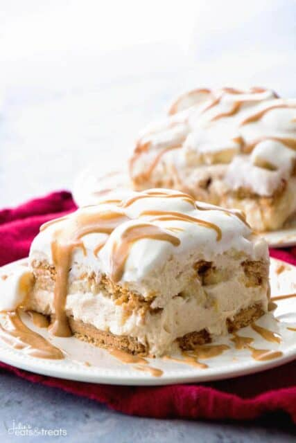 banana peanut butter icebox cake