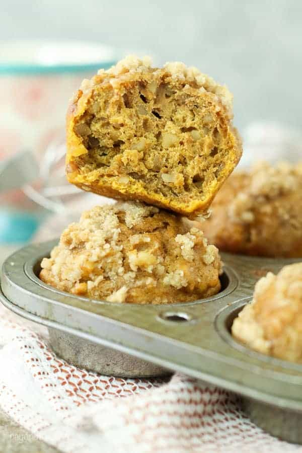 These Healthier Pumpkin Muffins will satisfy your pumpkin craving without the extra sugar and calories. Thank to Stevia In the Raw, you can enjoy these pumpkin muffins with only 7 Weight Watcher Points Plus without the streusel.
