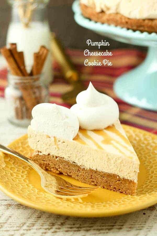 Pumpkin Cheesecake Cookie Pie Beyond Frosting