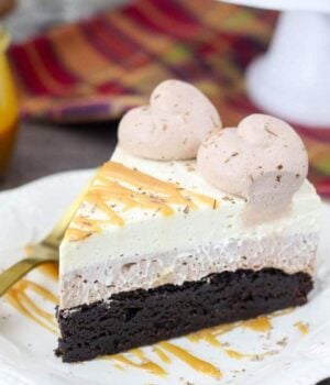 Caramel Hot Chocolate Brownie Mousse Cake