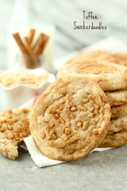 Close up photo of Toffee Snickerdoodles
