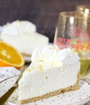 No-Bake Mimosa Cheesecake
