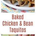 Baked Chicken and Bean Taquitos