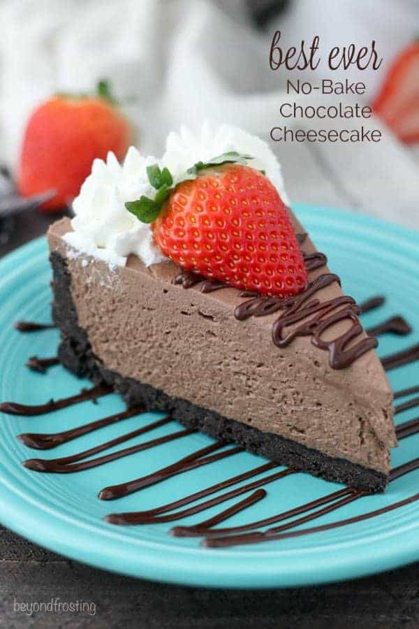 easy no-bake chocolate cheesecake