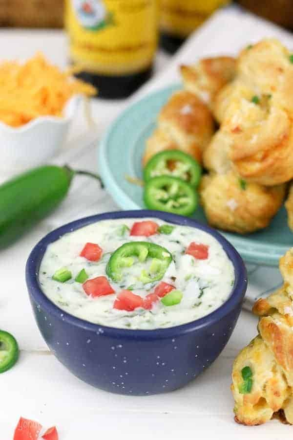 Jalapeno Spinach Cheese Dip