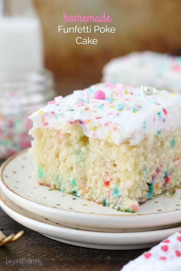 Homemade Funfetti Poke Cake