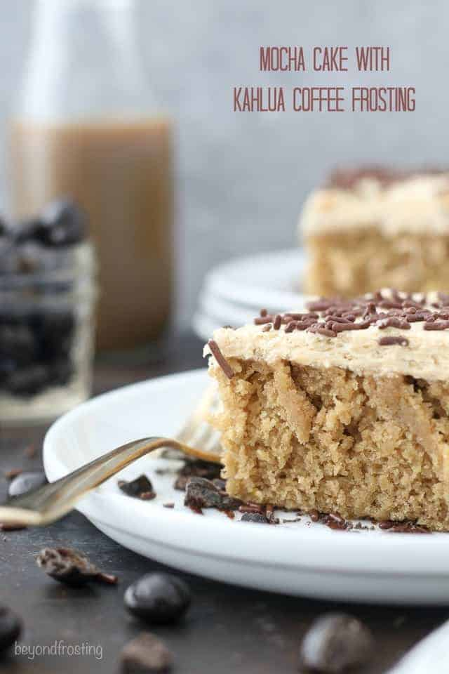 Mocha Cake with Kahlua Coffee Frosting