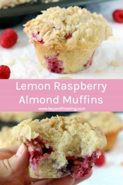 Bakery Style Lemon Raspberry Almond Muffins