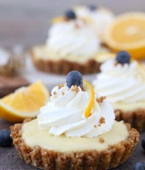 Meyer Lemon Pudding Tarts