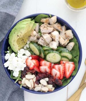 Chicken Strawberry Salad with Lemon Vinaigrette