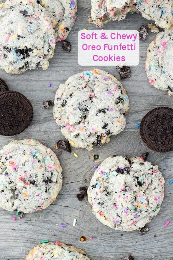 Soft and Chewy Oreo Funfetti Cookies