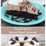 Brownie Bottom Brownie Batter cheesecake