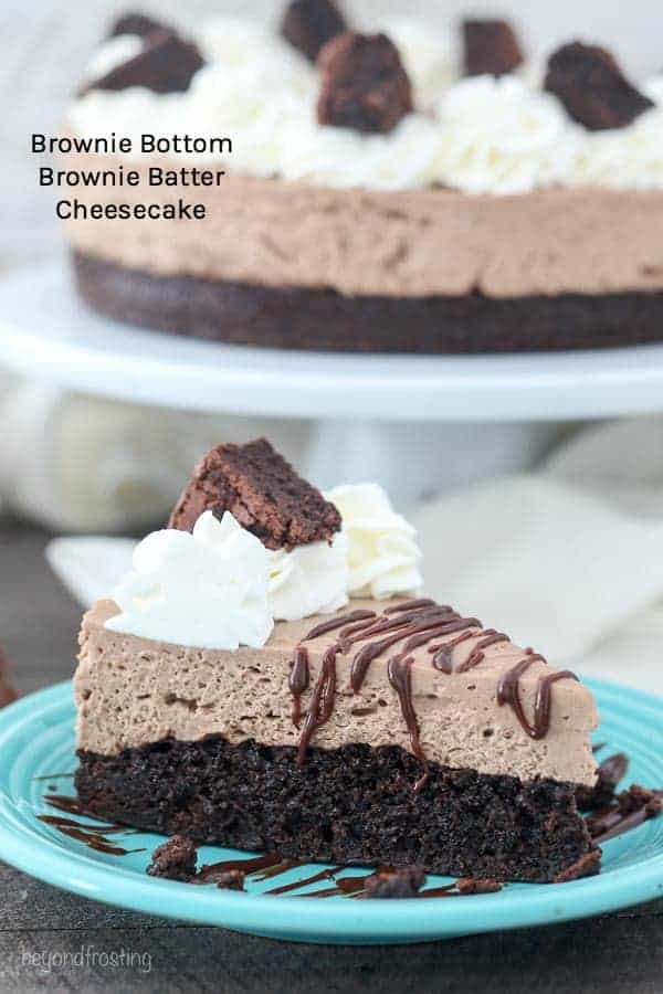 Brownie Bottom Brownie Batter Cheesecake
