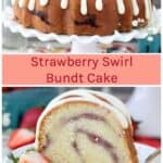 Strawberry Swirl Bundt Cake