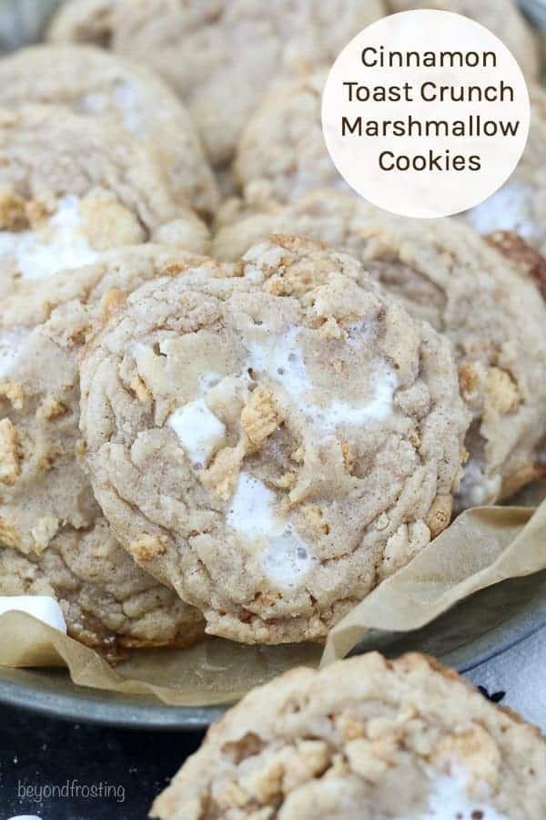 Cinnamon Toast Crunch Marshmallow Cookies